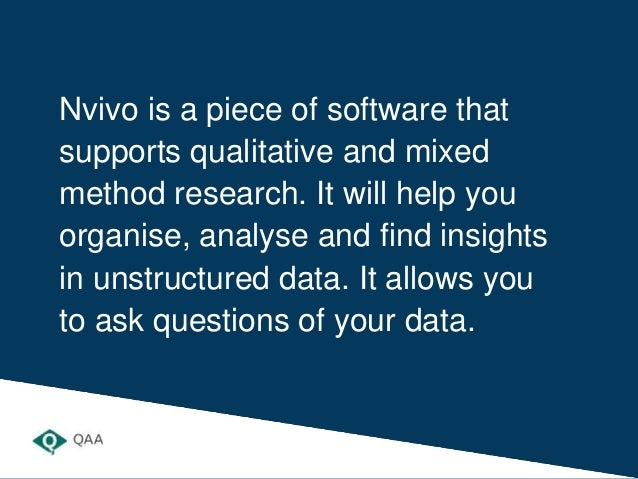 Introduction to NVivo Slide 2