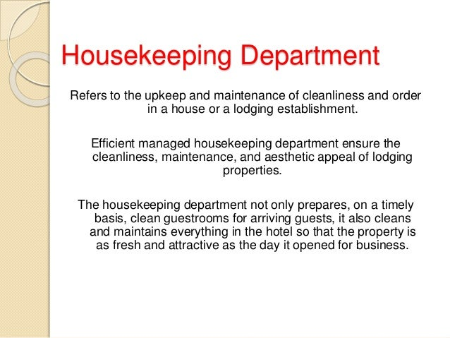 efficient management of housekeeping Hotel & motel housekeeping a free informational site dedicated to hotel managers, housekeeping supervisors and managers, and their teams.