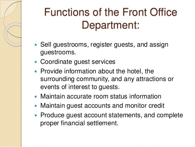 Introduction of-rooms-division-front-office-and-housekeeping-departme…