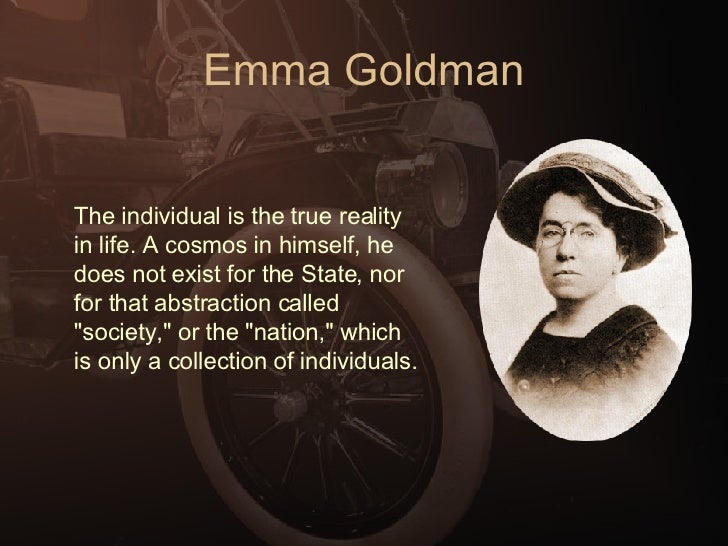 An introduction to the life of emma goldman from kovno