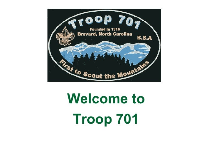Welcome to Troop 701