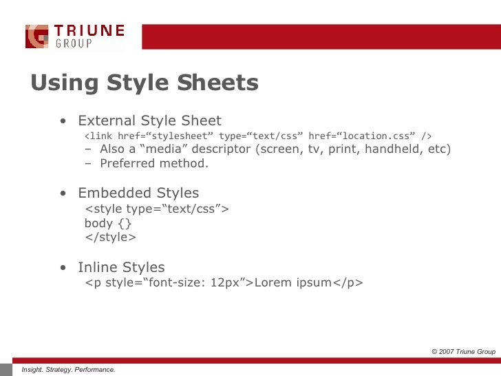 """css introduction to cascading style sheets Implementation css files are termed """"cascading"""" stylesheets because of two reasons: one stylesheet can cascade, or have influence over, multiple pages."""