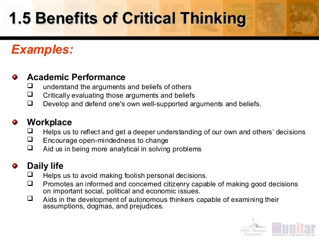 importance of critical thinking in everyday life