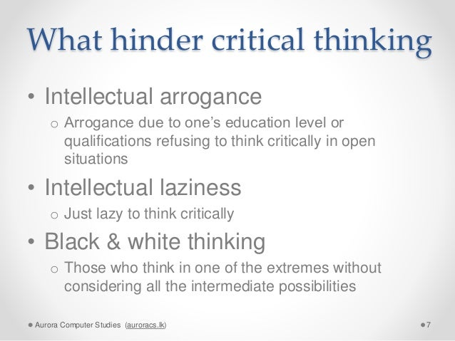 intellectual thinking essay Intellectual vitality is your curiosity about the world and your approach to discovering the answers to and what i might think is intellectual vitality might not be what the person reading the essay thinks it.