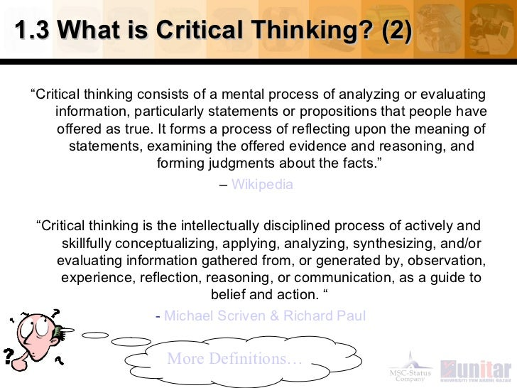 critical thinking in the workplace pdf