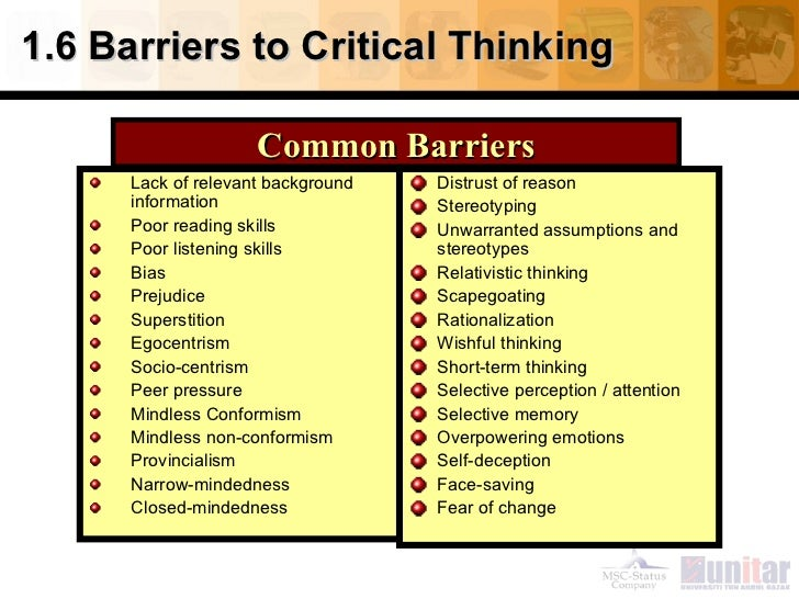army critical thinking characteristics Vulnerable to risks in their environment and for military children deployment is an   (15) these parenting traits support critical thinking and are characteristic of.