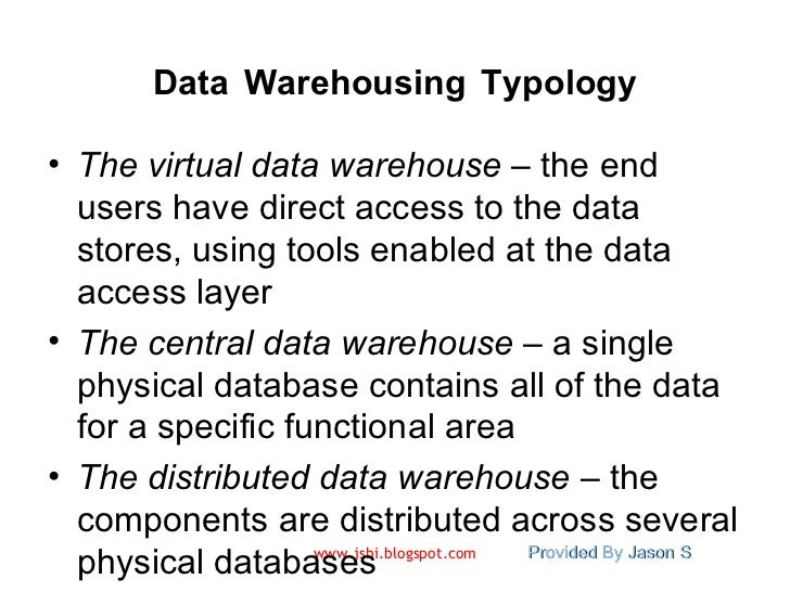 introduction to data warehousing Introducción a data warehousing y business intelligence this 2-day course examines and establishes the fundamental theories, concepts, domains, techniques and terminology that are essential for every business and information technology professional who is involved in data warehousing.