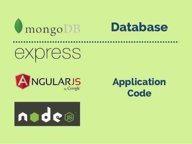 Database Application Code