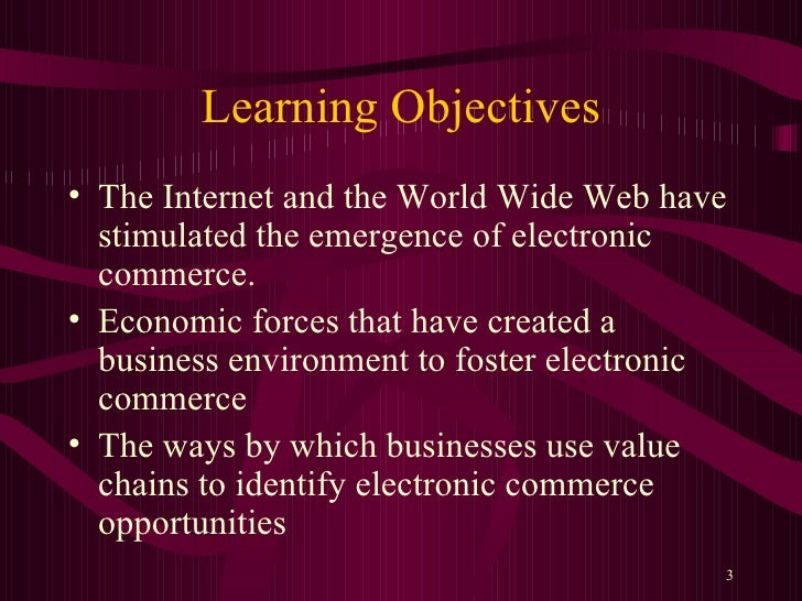 an introduction and a defeinition of e commerce on the world wide web 2018-8-19  introduction: e- commerce is a phenomena that is emerging rapidly  the definition of small business often  internet net world wide web media] free.