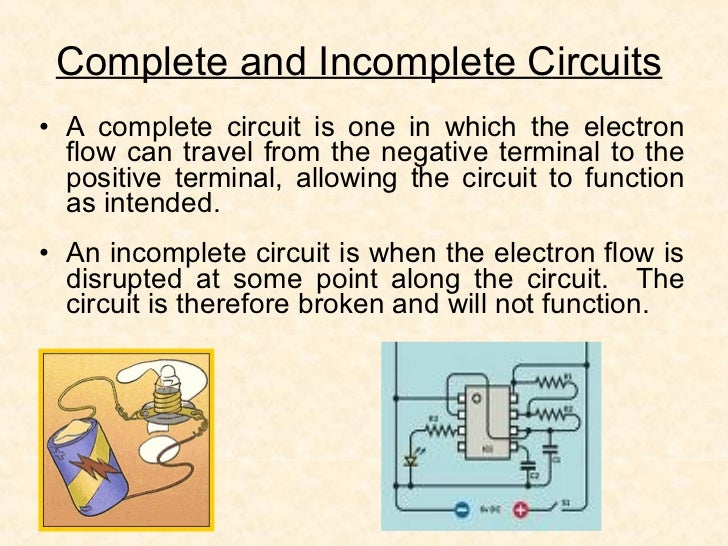 3 Complete And Incomplete Circuits