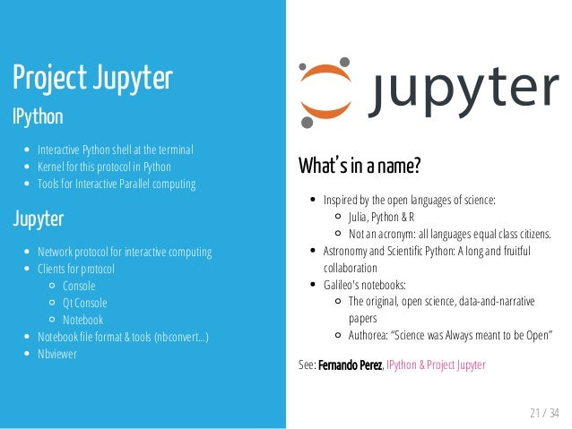 Introduction to IPython & Jupyter Notebooks
