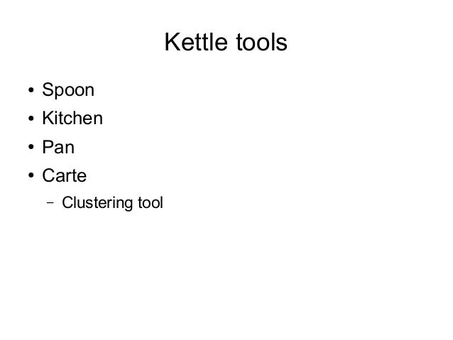 Introduction To Pentaho Kettle