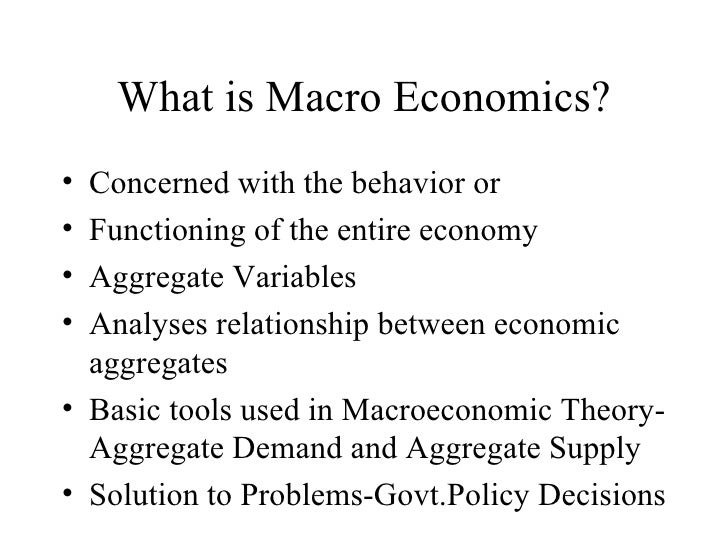 Interdependence between Micro and Macroeconomics