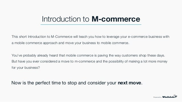 introduction to m commerce