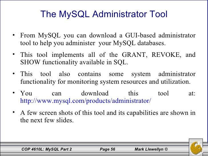 Introduction to mysql