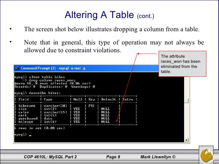 Introduction to MySQL - Part 2