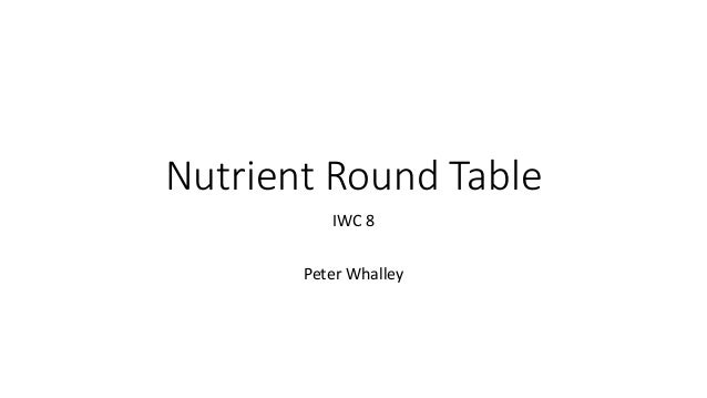 Nutrient Round Table IWC 8 Peter Whalley