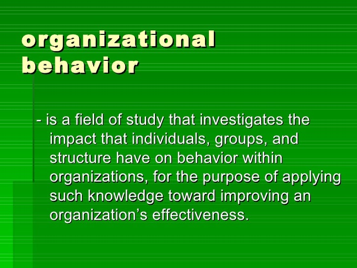 introduction to organizational behaviour assessment M e c p institutional and organizational assessment sample report outline 1 introduction • background and purpose • development issue • description of the organization.