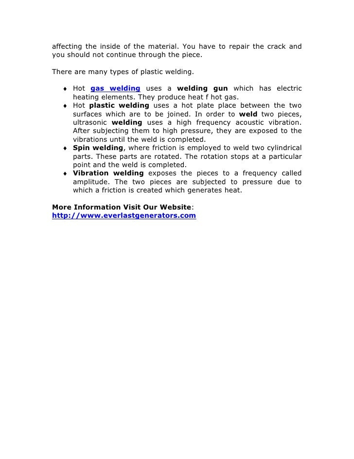 Introduction to Nitrogen Plastic Welding introduction to plastic welding