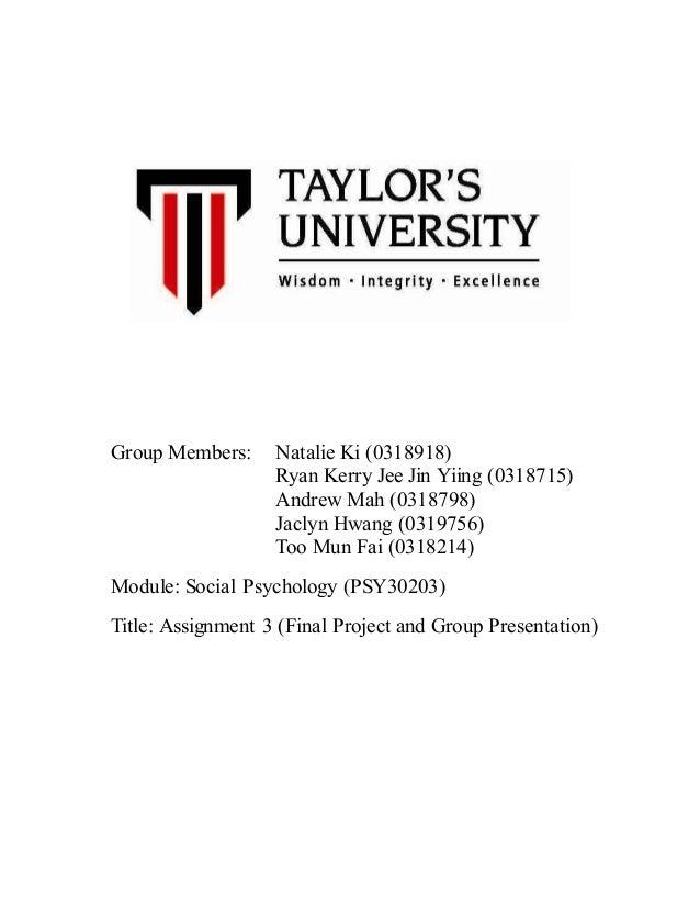 psychology final term paper