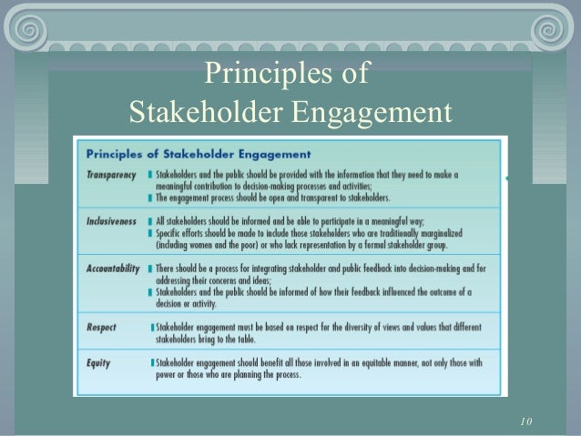 introduction to stakeholder engagement in international