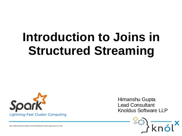 Introduction to Joins in Structured Streaming