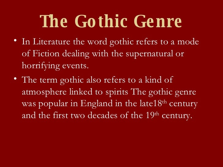 Origins of gothic literature