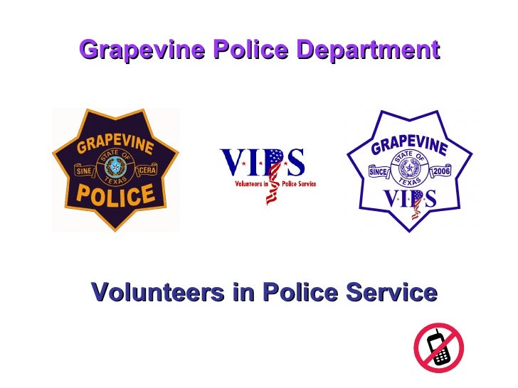 Grapevine Police Department Volunteers in Police Service