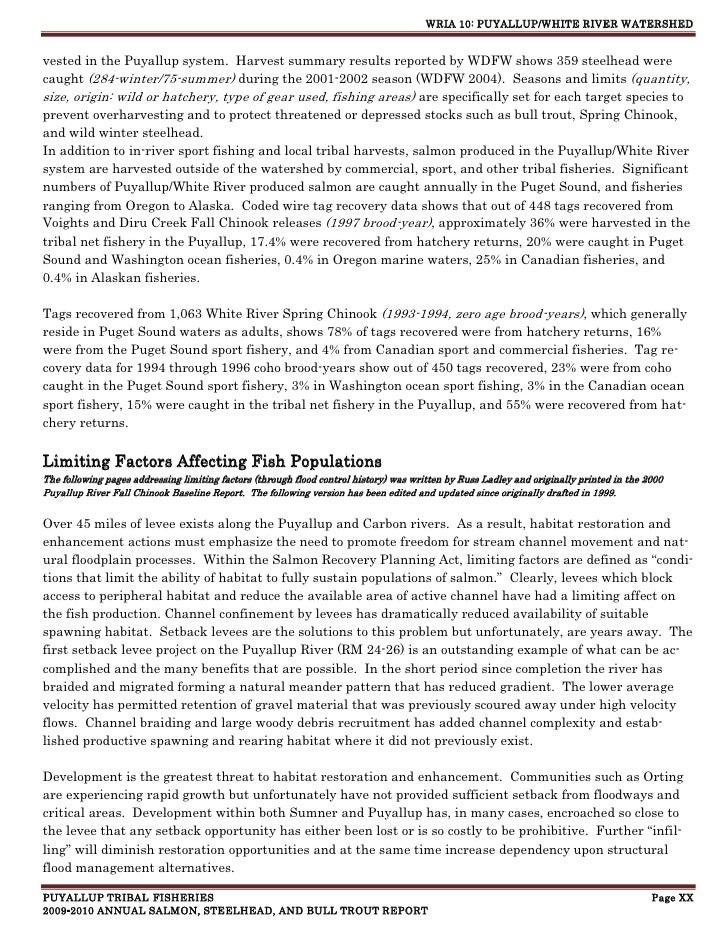 Introduction -- Puyallup Tribe Salmon Report 2010
