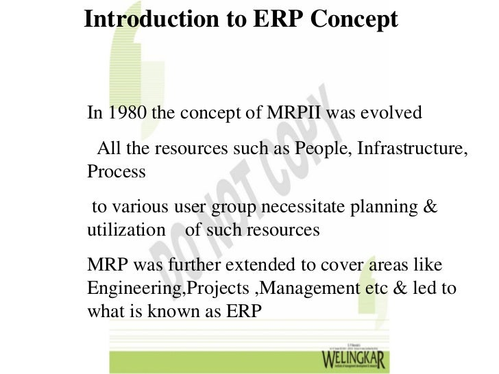 Introduction To Erp Enterprise Resource Planning