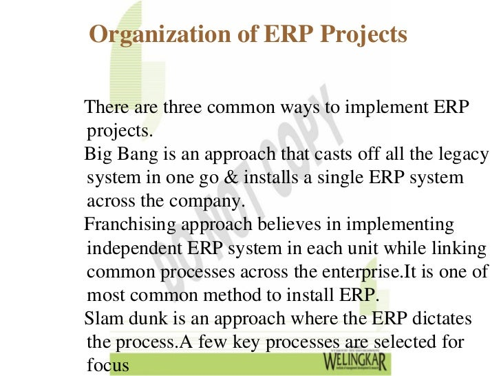 an introduction to the enterprise resource planning erp Chapter one: introduction 11 research problem  organisations  pursue enterprise resource planning (erp) systems to achieve improvements.