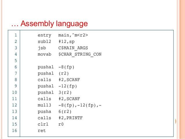 … Assembly language