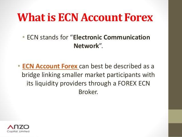 Ecn definition forex