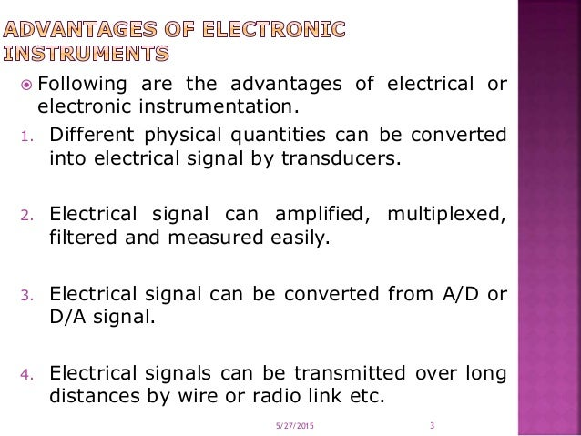 Introduction, advantages of electronic instrumentation, instrument cl…