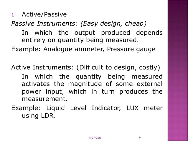 Introduction Advantages Of Electronic Instrumentation Instrument Cl