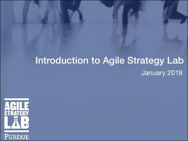 Introduction to Agile Strategy Lab January 2019