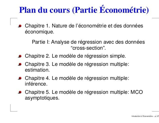 Introduction a l'econometrie luxembourg 2008 2009 Slide 3