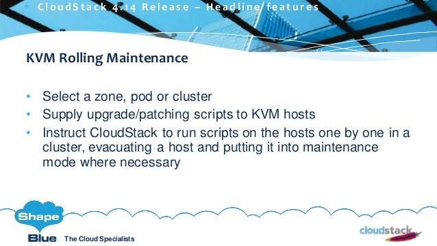 C l i c k t o e d i t The Cloud Specialists ShapeBlue.com @ShapeBlueThe Cloud Specialists KVM Rolling Maintenance • Select...