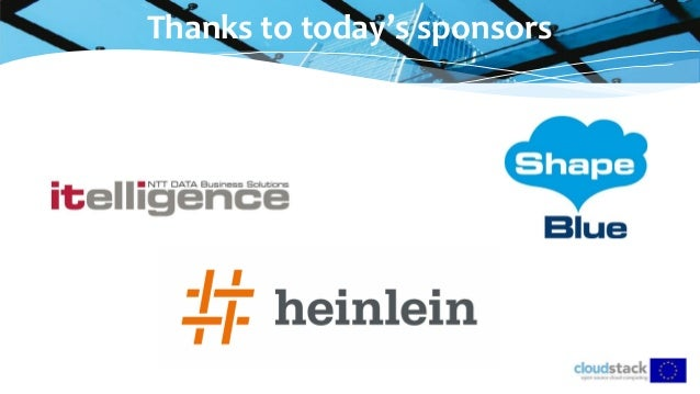 Thanks to today's sponsors