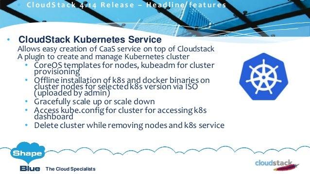 C l i c k t o e d i t The Cloud Specialists ShapeBlue.com @ShapeBlueThe Cloud Specialists • CloudStack Kubernetes Service ...