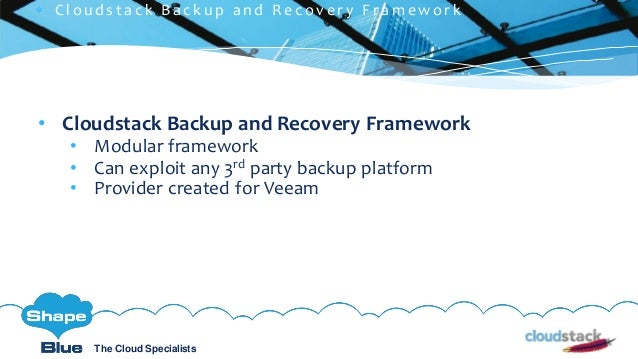 C l i c k t o e d i t The Cloud Specialists ShapeBlue.com @ShapeBlueThe Cloud Specialists • Cloudstack Backup and Recovery...