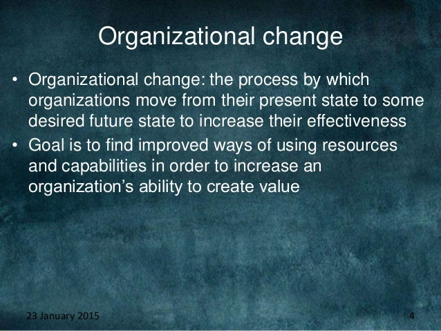 how does the culture affect an organization s ability to change Corporate culture an important part of change management if managers want to build high-performing organizations, they need to address culture - torben rick  there are four major steps involved in changing an organization's culture: before an organization can change its culture, it must first understand the current culture, or the way.