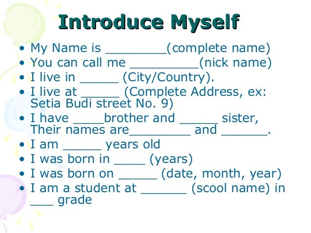 introduce myself to teacher I wrote an introduction of myself to my school teacher help me check the grammars i wrote an introduction of myself to my school teacher help me check the grammar.