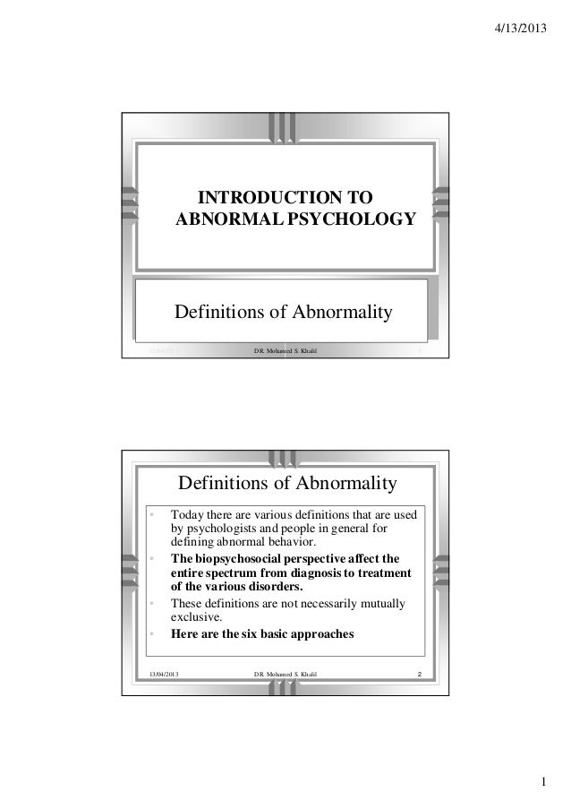 history of abnormal psychology Brief history of psychology from r eric landrum our brief review of the history of psychology traces some of the antecedent influences leading psychology to its present status by feeling someone's skull and noting the location of an abnormal bump (too much) or indentation.