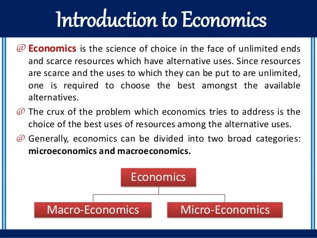 introductory economics information and instruction for Subjects of instruction economics general information economics after two terms of introductory economics and completion of the economics of information.