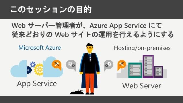Web サーバー管理者のための Azure App Service 再入門 Slide 2
