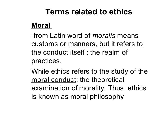 ethical terms in nursing