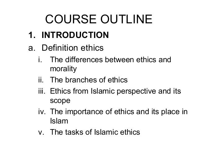 Relationship between law and ethics in islam