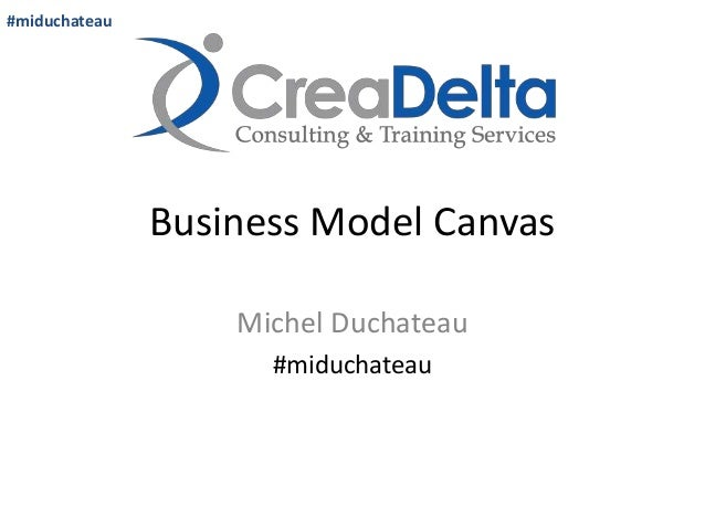 Business Model Canvas  Michel Duchateau  #miduchateau  #miduchateau