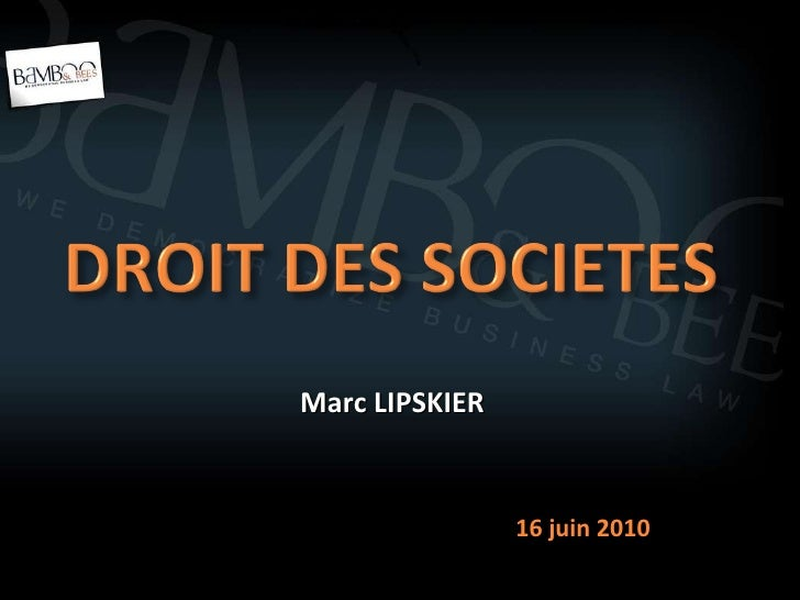 Marc LIPSKIER 16 juin 2010